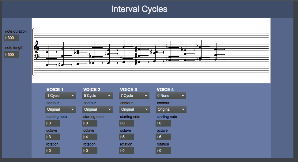 Screenshot of Interval Cycles